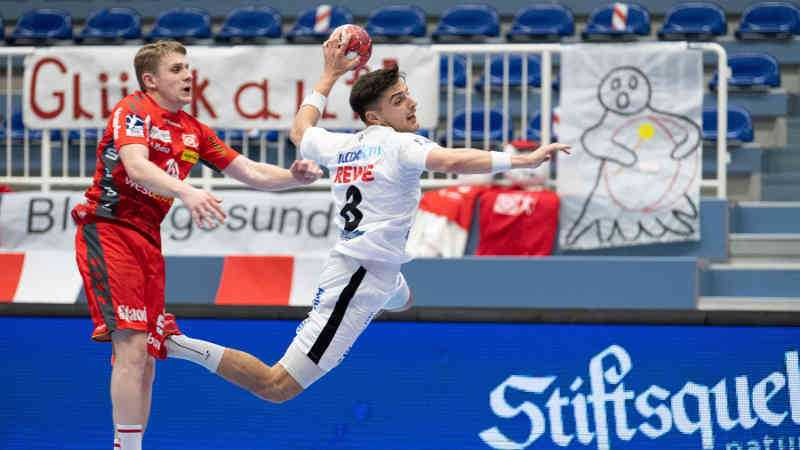 Handball Bundesliga – TUSEM Essen vs. SC DHfK Leipzig – Lucas Krzikalla – Foto: Klaus Trotter